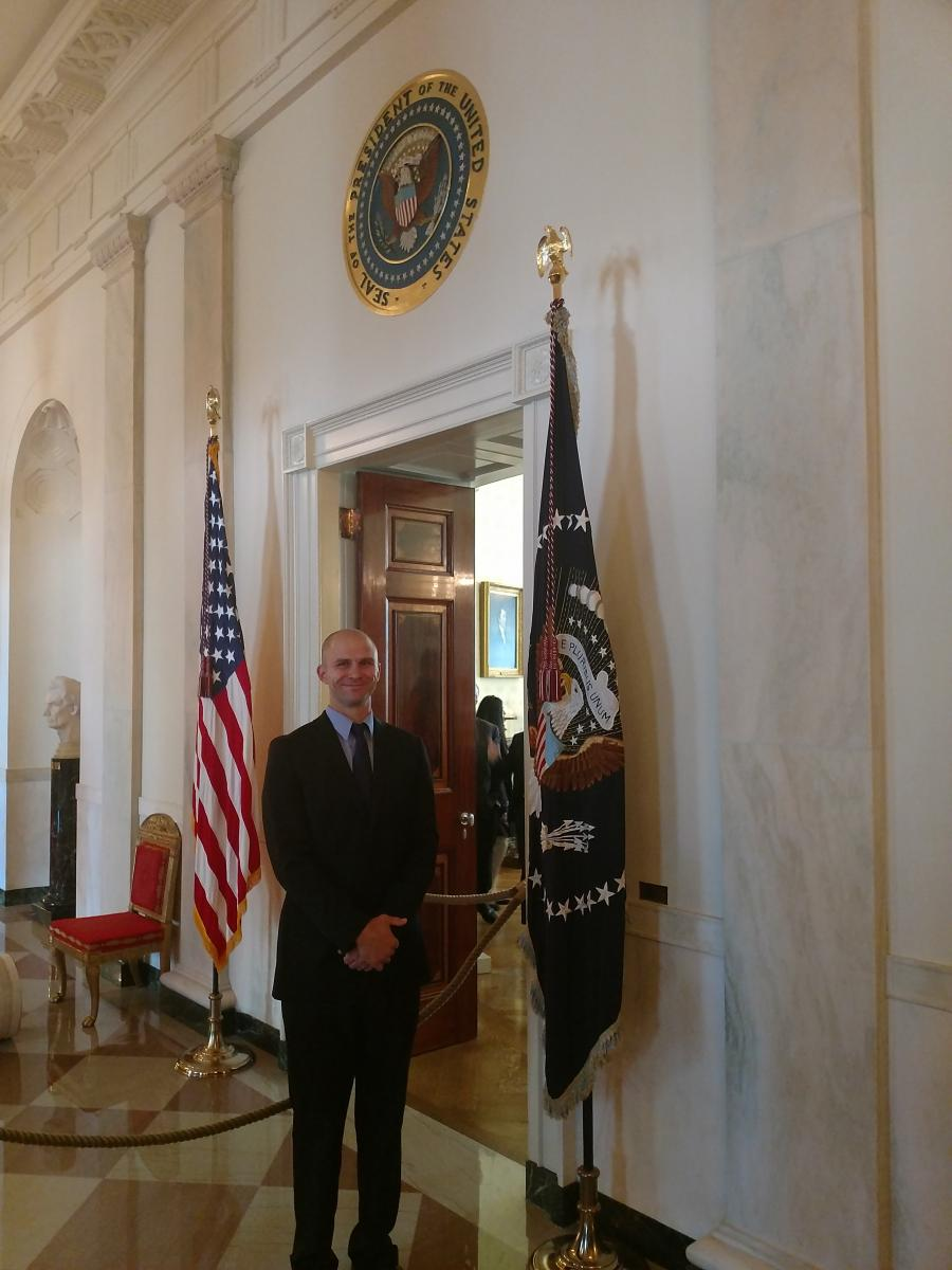 John Gensic at the White House, Oct. 18, 2019