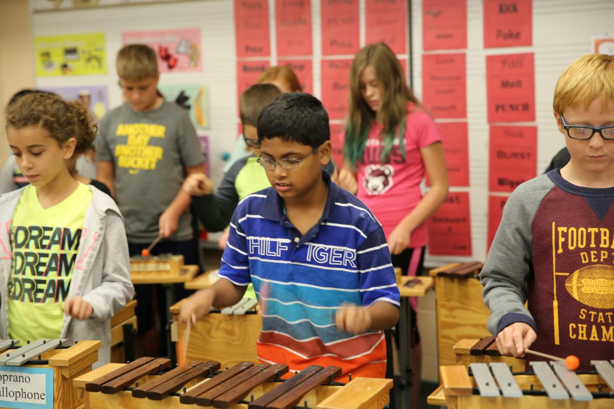 Northpoint Elementary School music class
