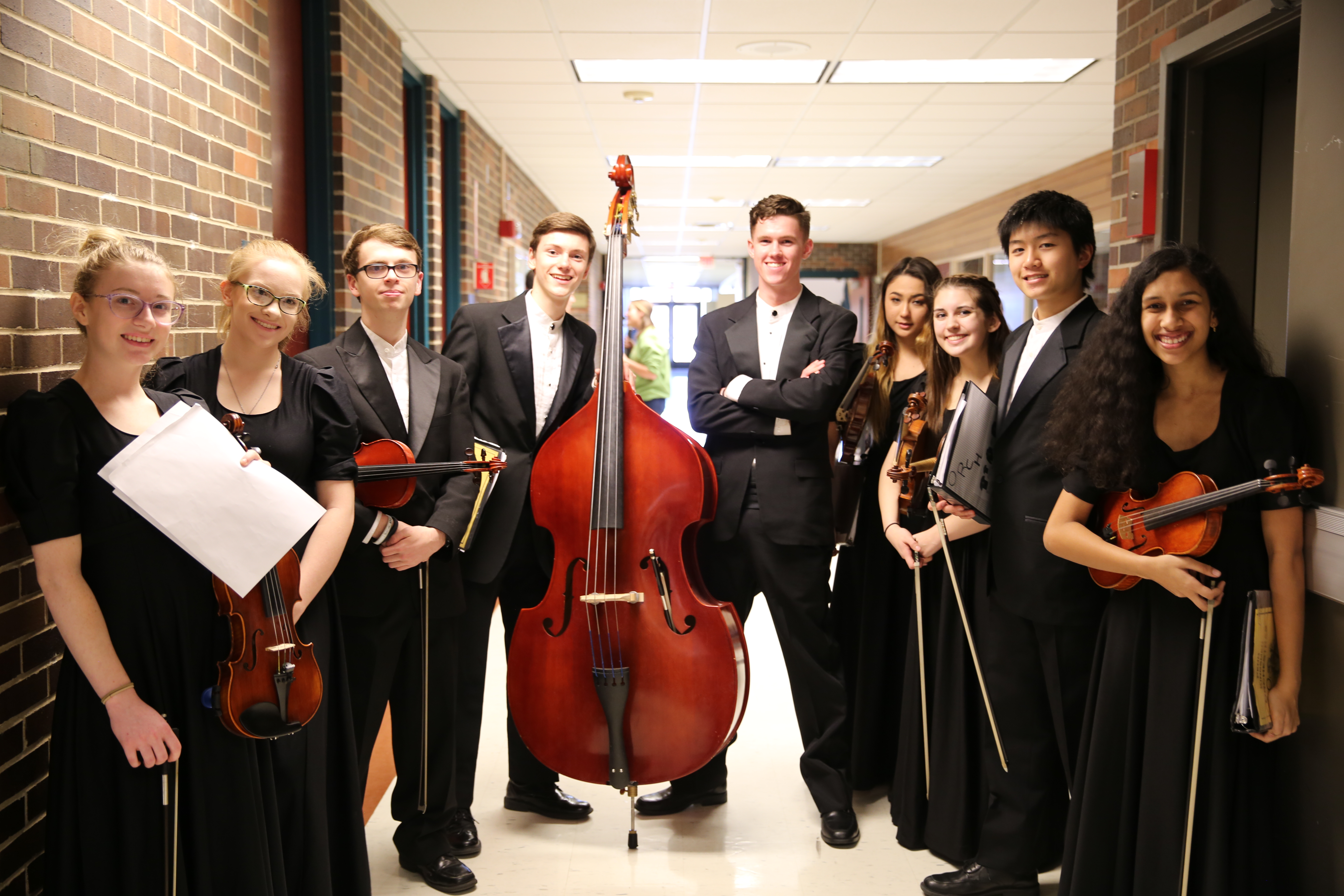 Penn High School Orchestra students