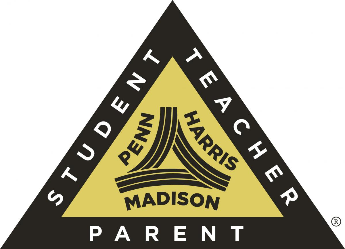 P-H-M's Triangle of Success connecting students, teachers and parents