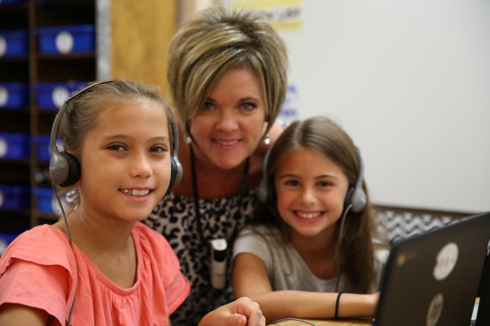 Northpoint teacher with students