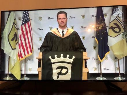 Penn Principal Sean Galiher during Virtual Commencement broadcast