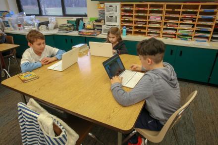 students on Chromebooks