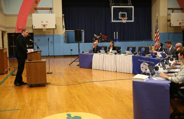 P-H-M C.O.O. Aaron Leniski addresses the P-H-M School Board