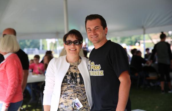 Penn PALS Cord. Caroline Brill with Dir. of Professional Development Jayson Snyder