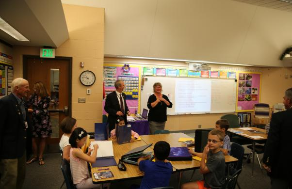 Dr. Thacker visits Northpoint classrooms with Board Member Larry Beehler (8/24/17)