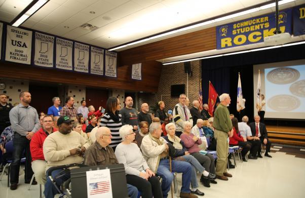Veterans are honored at Schmucker's Veteran's Day program