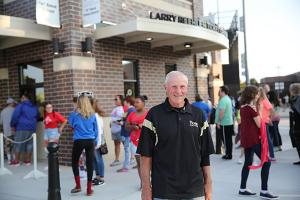 P-H-M Board Member Larry Beehler at the dedication of the Ticket Center in his honor (Friday, Sept. 15, 2017)